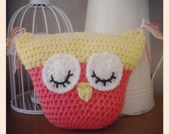 Lovely crochet baby owl/ shelf sitter, ornament