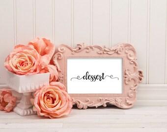 Dessert sign, dessert table sign, dessert bar sign, dessert table decor, dessert bar, wedding signs, wedding printables