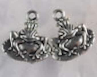 Frog on Lily Pad Charm