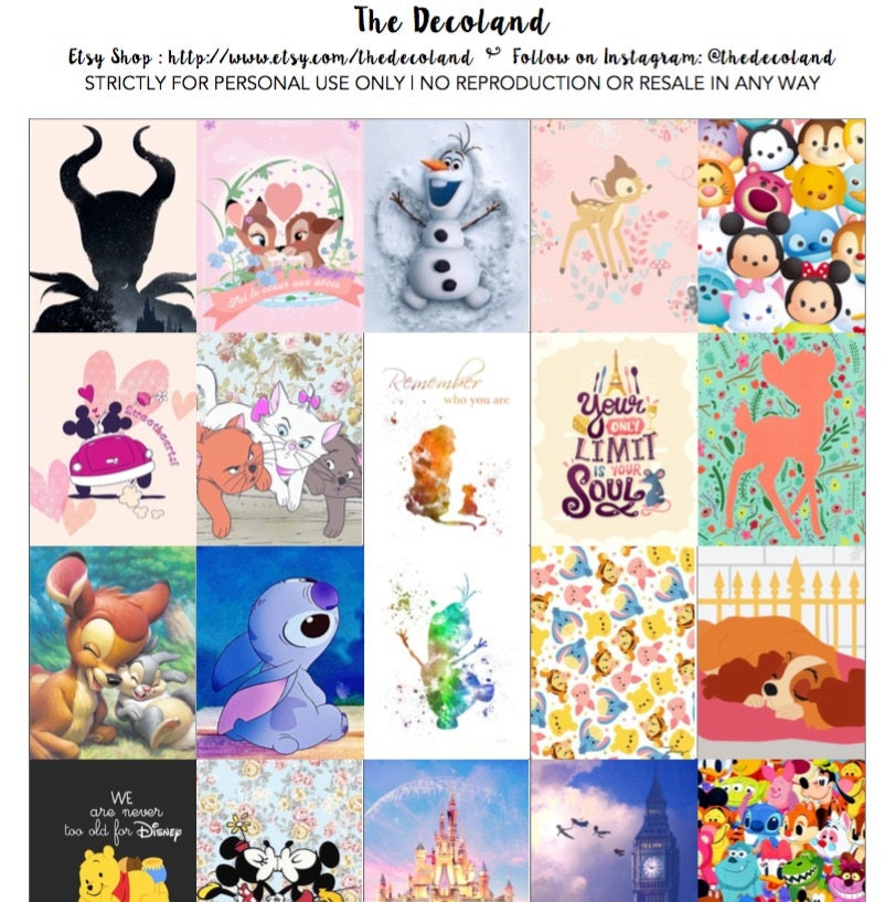 Printable Planner Stickers Disney Character Theme for Erin