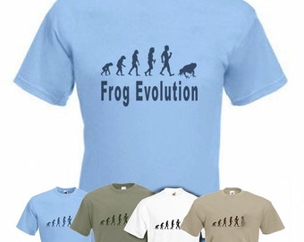 Evolution To Frog t-shirt Funny T-shirt sizes Small TO 2XXL