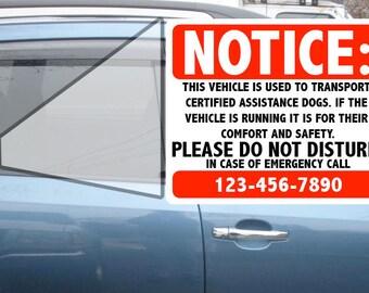 Service Dog Window Decal