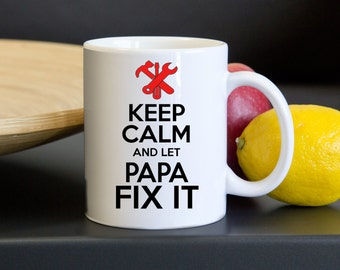 Papa Mug. A Beautifully Personalized Mug for your Papa.  Surprise him with this Unique Coffee Mug for Christmas.