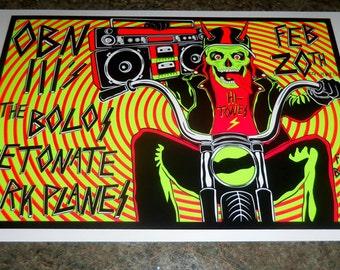 The Bolos Hi-Tones Gig Poster Screen Printed