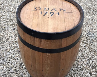 """Solid Oak Recycled Whisky Barrel """"Oban"""" Patio Table"""