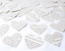 Harry Potter heart confetti, Large scrapbook confetti, Recycled book confetti, Wedding confetti, Handmade in England