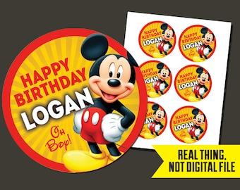 Mickey Stickers - Mickey Mouse Stickers - Mickey Birthday - Mickey Mouse Birthday