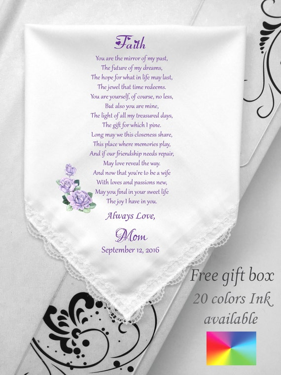 Daughter Wedding Handkerchief From Mother Of Bride From Mom