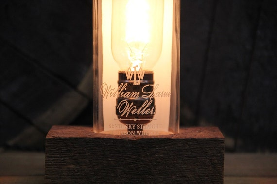 William Larue Weller Bourbon Bottle Lamp, Gift For Grandpa, Gift For Boss, Gift For Guys, Present For Him, Perfect Gift For Husband