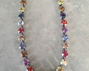 Colorful mix of swarovski crystal (necklace)