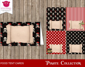 Instant Download Pirate Party Food Tent Cards/Place Cards