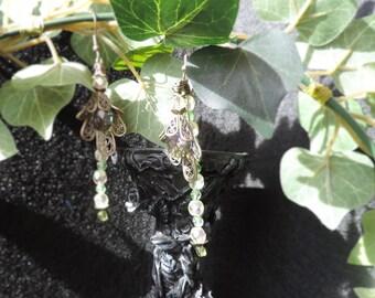 '' Green Grass '' Victorian earrings