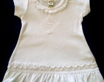 Baptism Christening Dress - Before/After - ALL COTTON