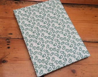 Hardback A5 Journal, Covered in a Paisley Fabric