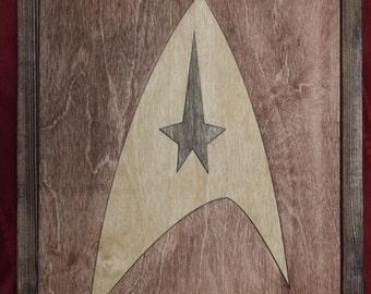 Star Trek Wooden Inlay Wall Art