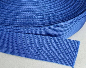 5 Yards, 1.5 inch (3.8 cm.), Polypropylene Webbing, Blue, Key Fobs, Bag Straps, Purses Straps, Belts, Tote Bag Handle