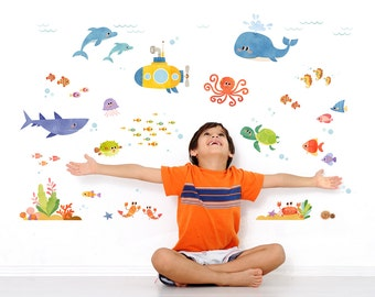 Decowall, DAT-1611, Sea Adventure Wall Stickers