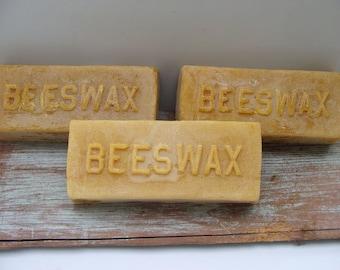 BEESWAX 1 lb. BARS (3), Lot of 3 Craft Grade Bars Beeswax