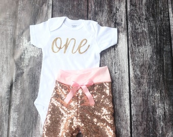 Pink Sequin pants, baby girls clothing, baby sequin pants, first birthday, glitter, bodysuit,