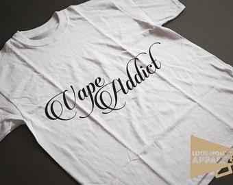Vape Addict Men's Vaping Shisha E-Cig T-Shirt