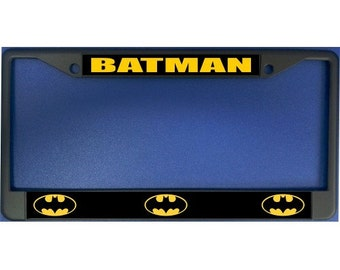 batman logo photo license plate frame lpo2067