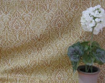 Mill Creek Fabrics, Raymond Waites Designed Gold Paisley Fabric