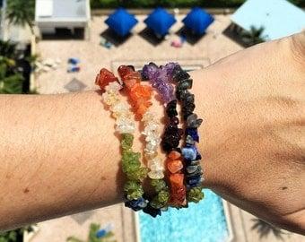 SALE Chakra Jewelry Bracelet/ Reiki Jewelry/Chakra Stones