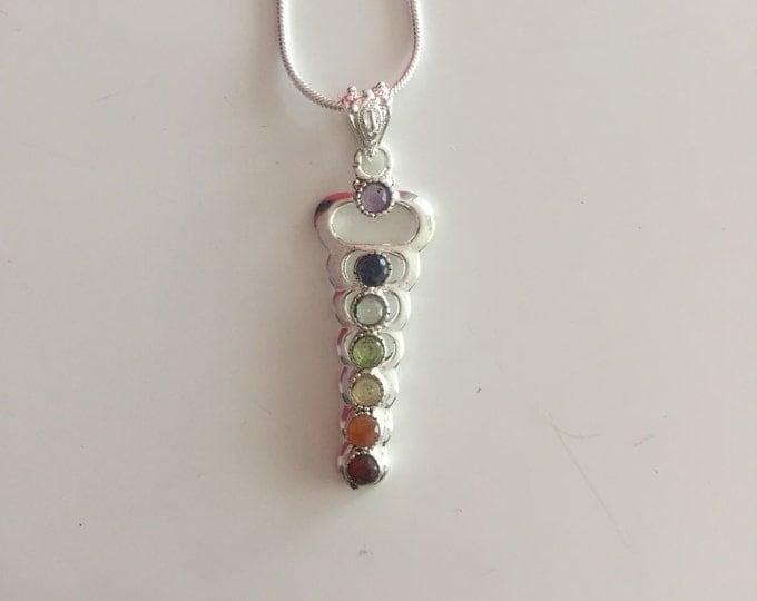 Chakra Healing Pendant w/ Necklace / Reiki Jewelry Set