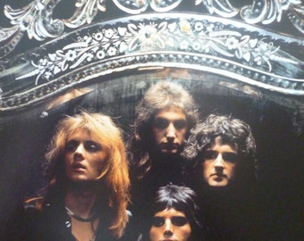 Queen - London, 1974 - Mounted Photo Poster (28x21cm)
