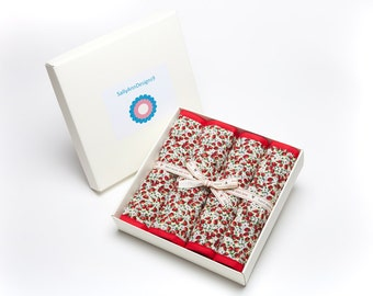 Gift boxed placemats in strawberry design.
