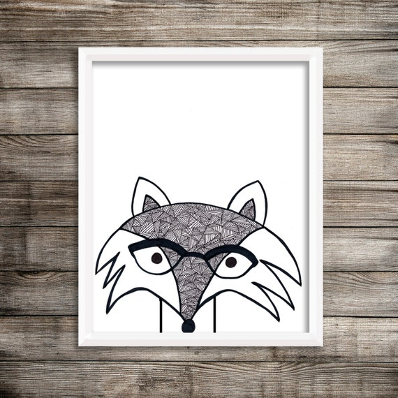 8x10 Nerdy Fox