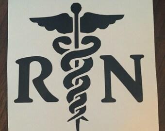 Nurse Decal- RN- Nurse Gift- Personalized Nurse Decal- Nurse Gift-Nurse Appreciation
