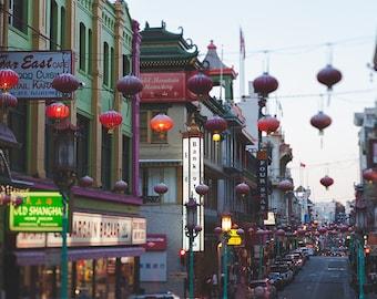 Chinatown Print, San Francisco Photography, Chinese Lanterns, City Picture, Urban Art, Cityscape, San Francisco Print, Fine Art Photography