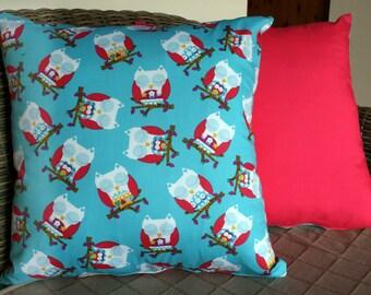 Sleeping Owl Cushion Cover