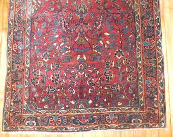 Antique Persian Sarouk Rug Size 2'6''x4'10''