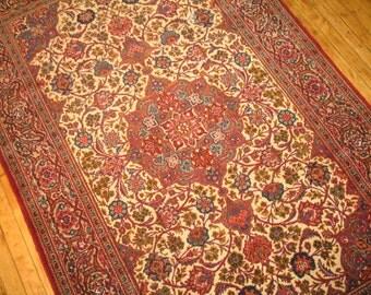 Antique Persian Kashan Rug Size 4'3''x6'9''