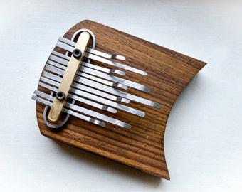kalimba with horns, teak wood
