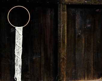 Macrame suspension inspired dreamcatcher