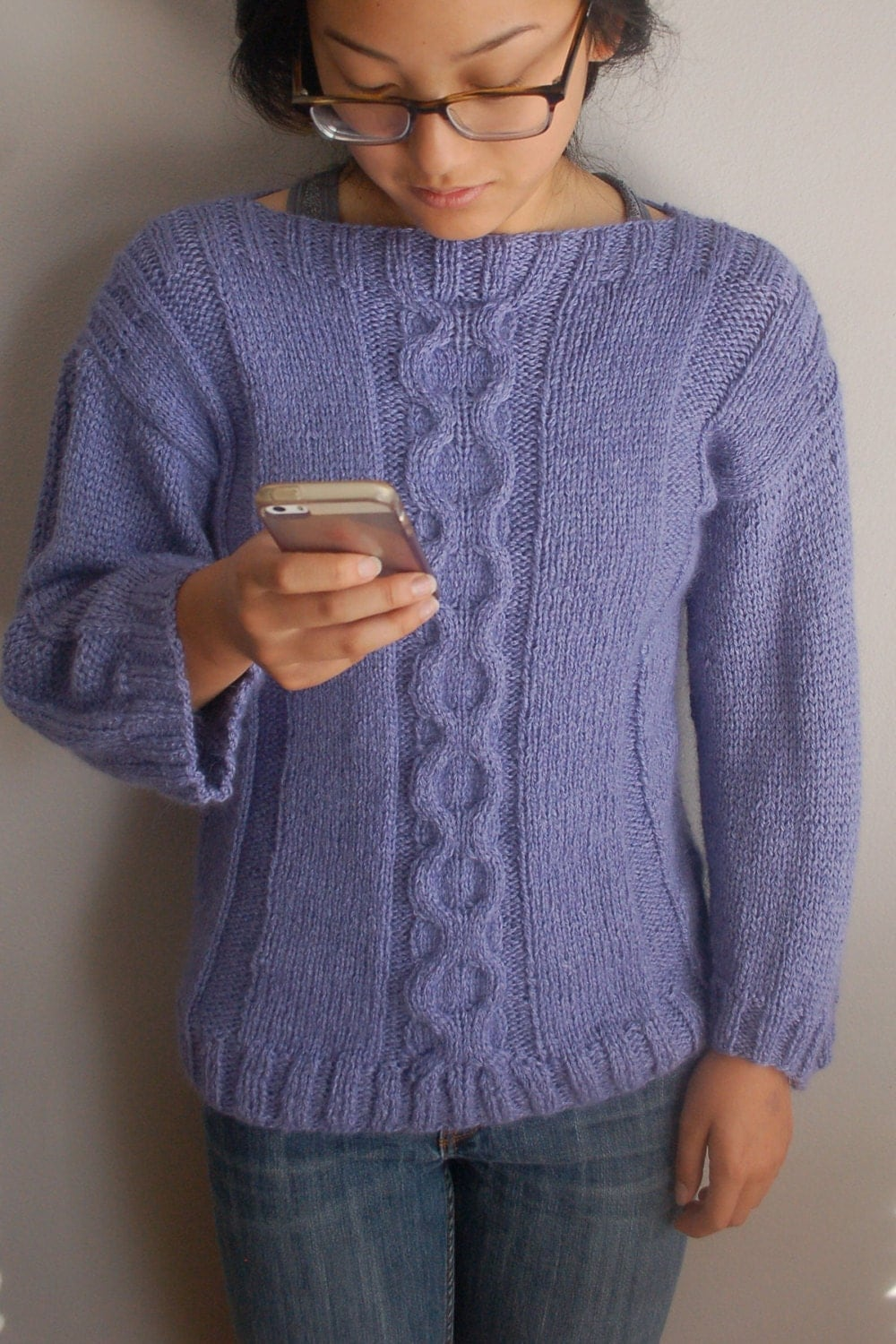 Knit A Sweater Easy : Cable sweater knitting pattern easy to knit pullover