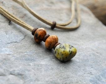 Semi-precious Jasper necklace