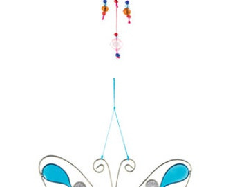 Butterfly resin sun/lightcatcher with beads