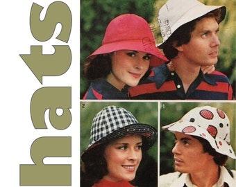 Bucket Hat Pattern, Simplicity 6250 one size UNCUT, Hat Sewing Pattern, Mens Hat, Womens Hat, Gilligan Hat, Sun Hat Pattern, 1970s Hat