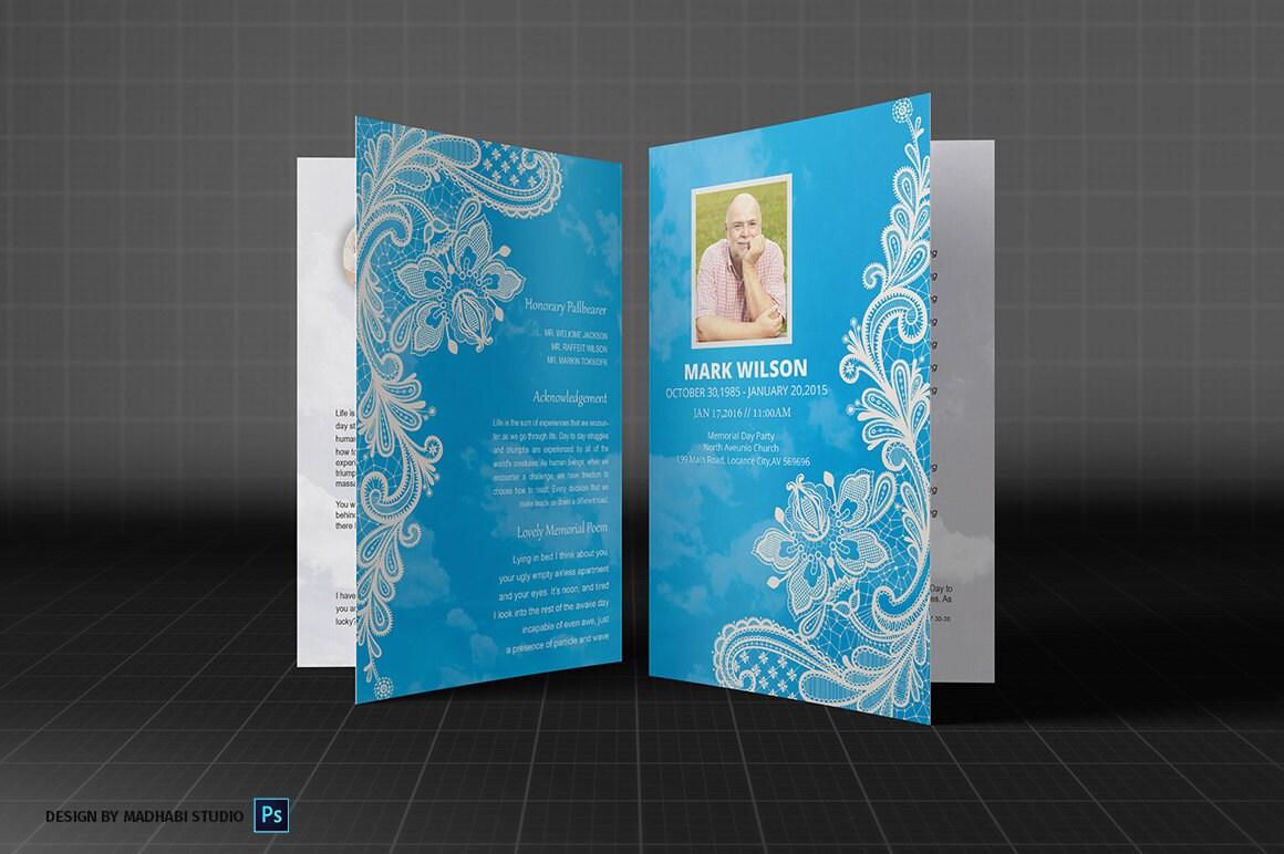 beerdigung programm vorlage ms word und photoshop vorlage