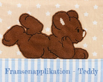 Embroidery file Teddy-Fransenapplikation
