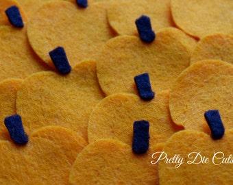 Felt Pumpkins, orange pumpkin pack, Die Cut Halloween Craft Embellishments