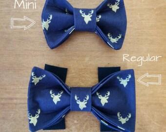 OH Deer! Dog Bow Tie