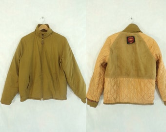 40%offAug18-21 mens gabardine jacket size small, 60s jacket, khaki brown, mens coat, 1960s jacket, mens jacket, mens small, canvas, mad men