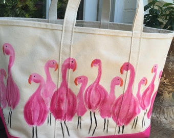 LARGE custom painted beach tote, tote, beach bag, home & living, beach, christmas gift, wedding gift