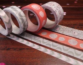Washi tape - set of 4 - several varieties