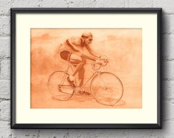 Fausto Coppi Tour de France 1949 Fine Art Print